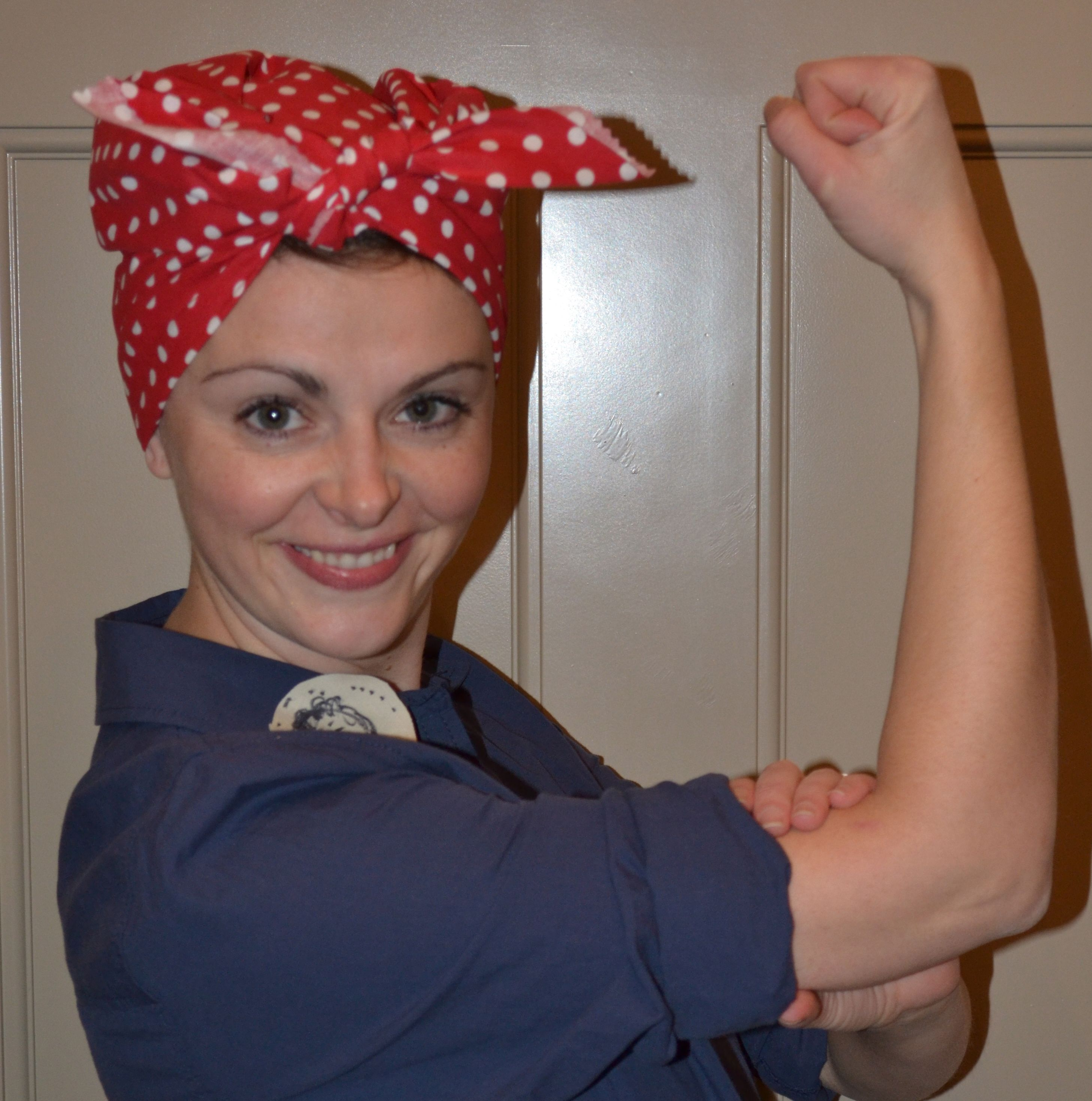 Halloween isn't just for the kids! The rosieMADE founder dressed as Rosie the Riveter!