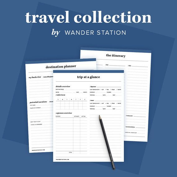 8 in 1 Travel Collection - Trip Planner, Itinerary, Schedule