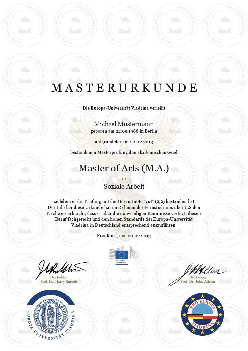 Master-, Bachelor-, Diplom-, Doktortitel kaufen European University ...