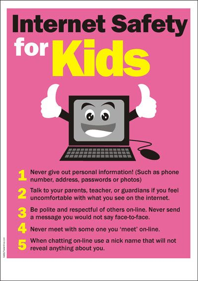 internet safety is really important especially for kids and - poster on line