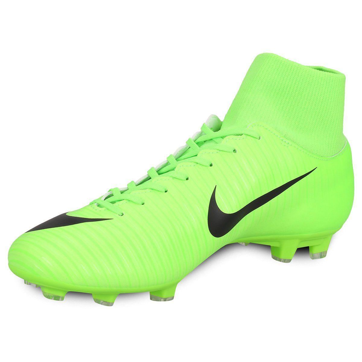 Botines Nike Mercurial Victory VI DF FG - Verde Claro  78927e256fbc7