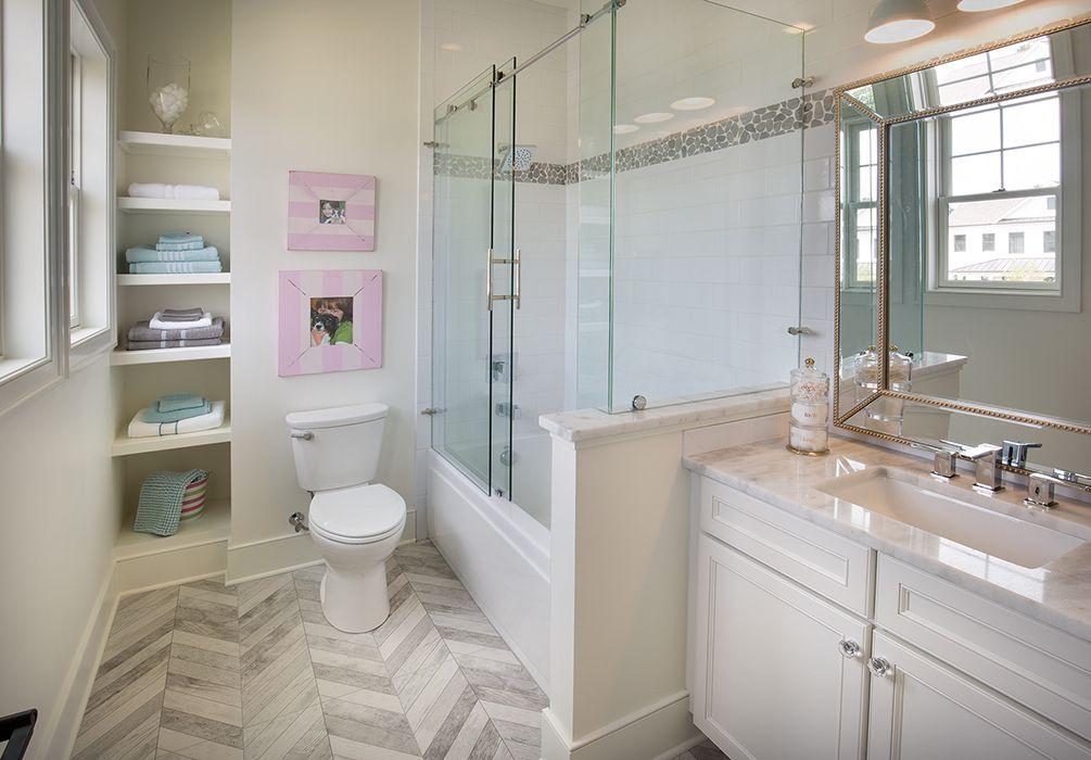 Bob Webb - Bath #4 Floor Tile Emser Tile, Velocity Force 17x35, Shower