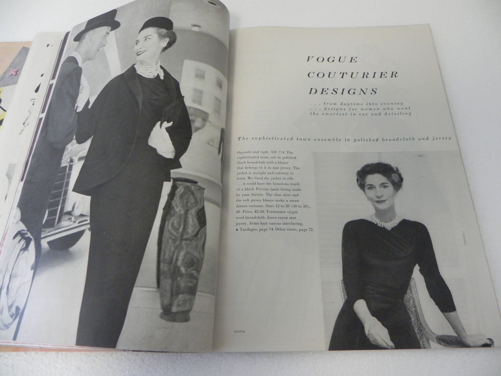 Vogue Pattern Book, December-January 1953-1954 featuring Vogue ...