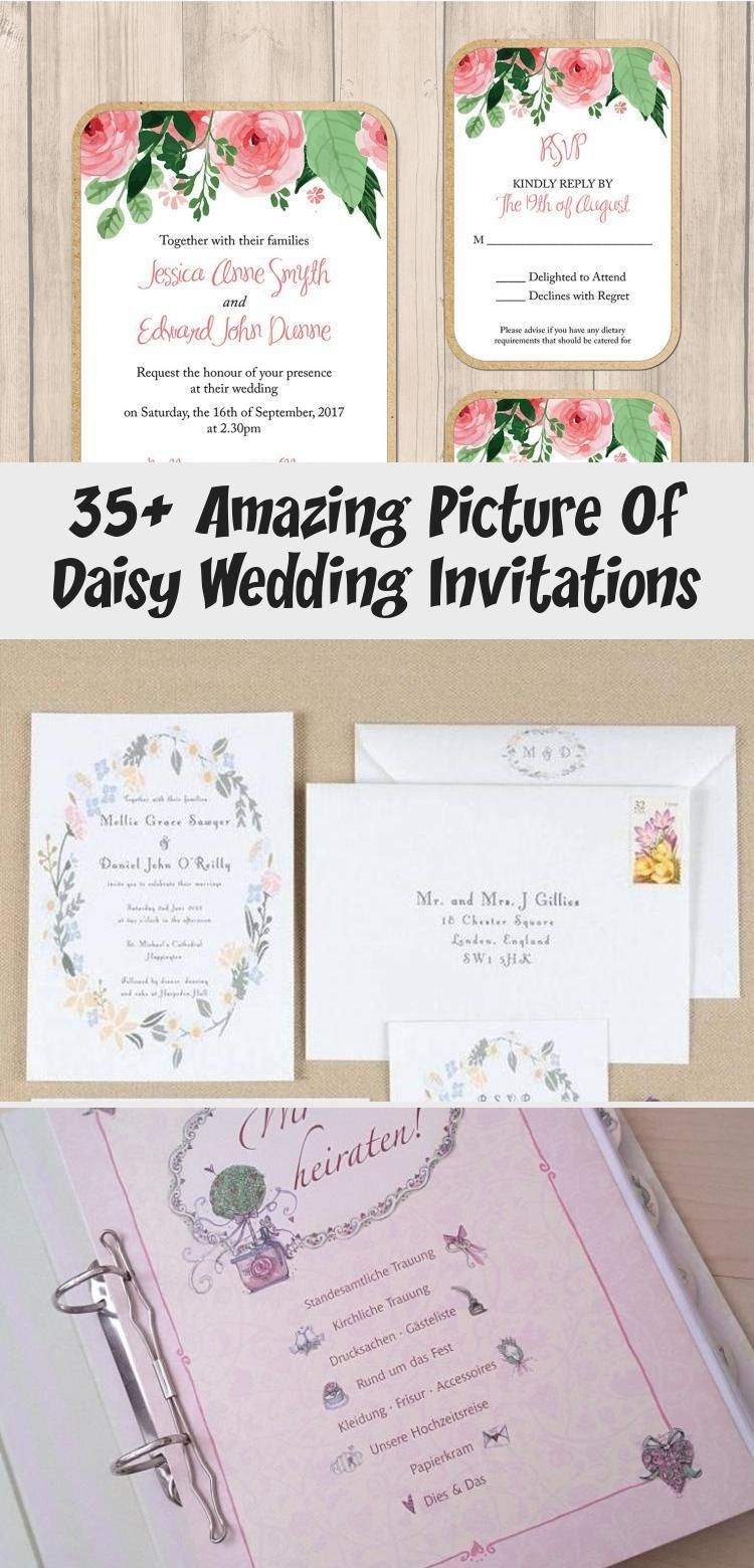 35 Amazing Picture Of Daisy Wedding Invitations In 2020 Daisy Wedding Invitations Wedding Invitations Daisy Wedding