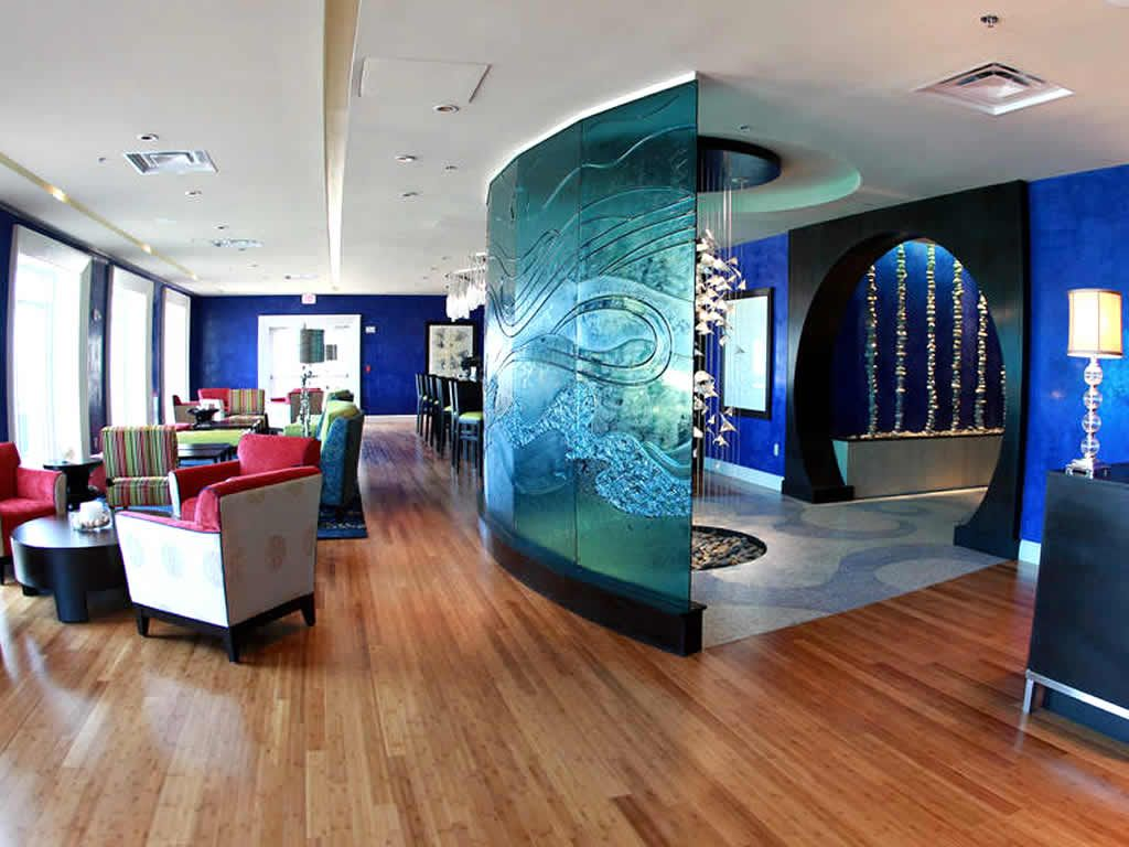 Contemporary Lounge Hospitality Interior Design Of Azurea Restaurant  Atlantic Beach