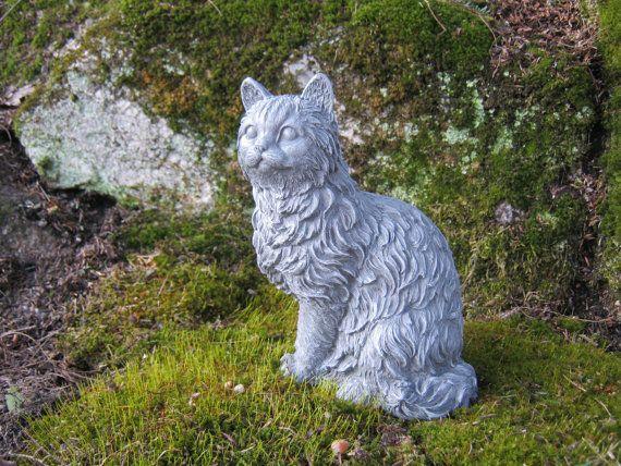Cat Statue Concrete Cat Figure Cement Garden Decor Statues Of Cats Cat  Memorial Headstone Pet Memorials