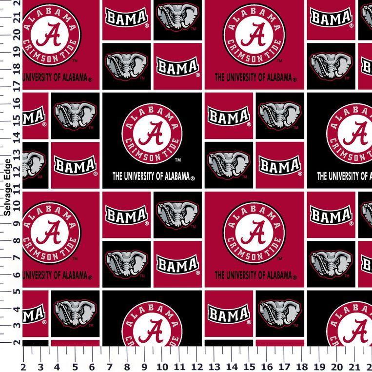 University of Alabama Cotton Fabric Collegiate Cotton