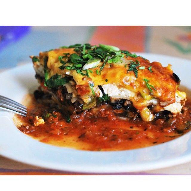 Mexican Lasagna via @feedfeed on https://thefeedfeed.com/lasagna/whatthehelltheymakin/mexican-lasagna