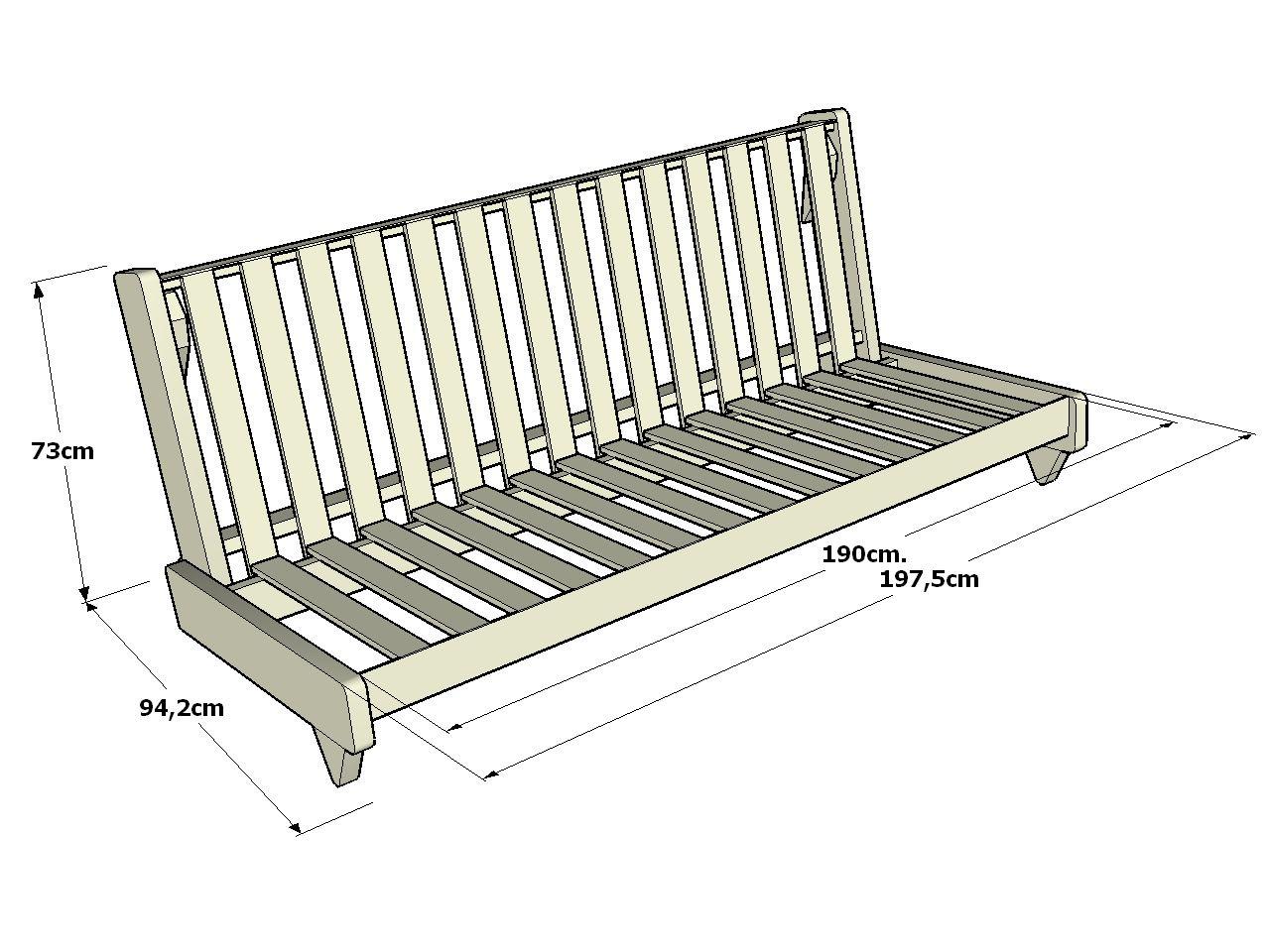 Futon sof cama fresh la estructura del futon sof cama - Sofas de madera de pino ...