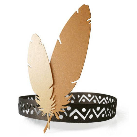 Lifestyle Crafts - Die Cutting Template - Feather Headband ...