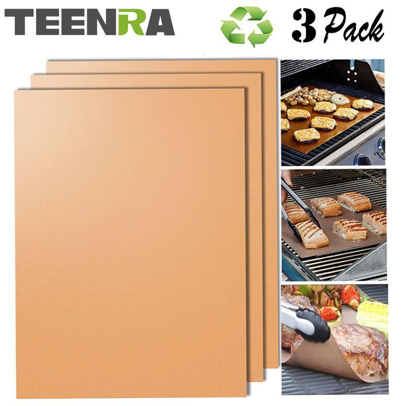 Us 7 24 Teenra 3pcs Gold Reusable Grill Heat Resistant Mat 3pcs Gold Grill Heatresistant Reusable Teenra Bbq Grill Mats Gold Grill Bbq Grill