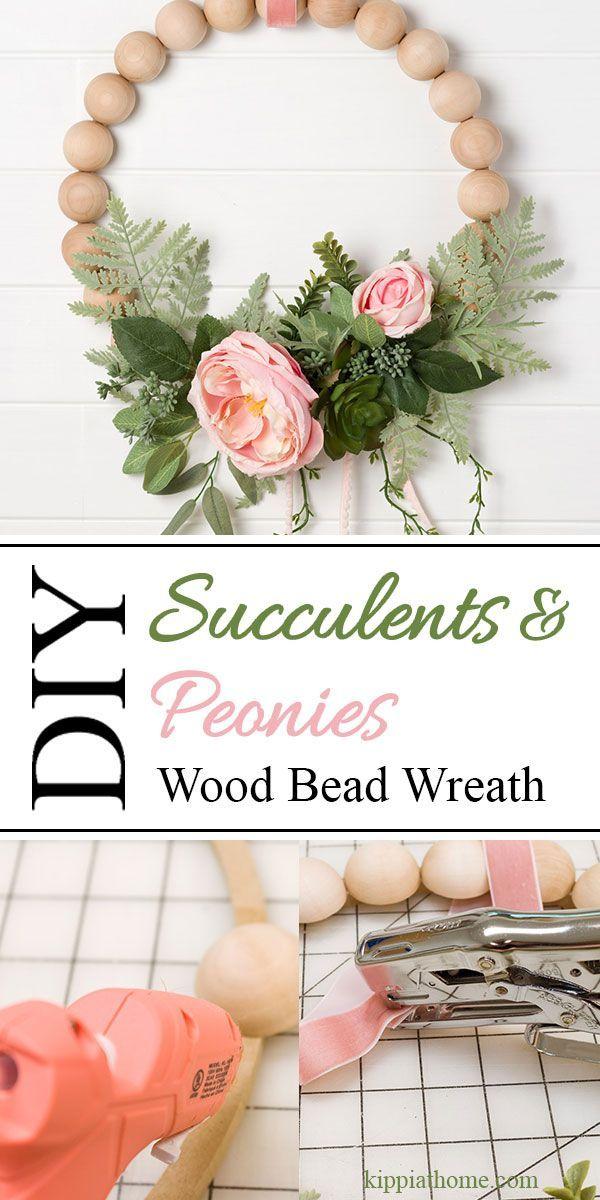 Photo of DIY Succulents & Peonies Wreath