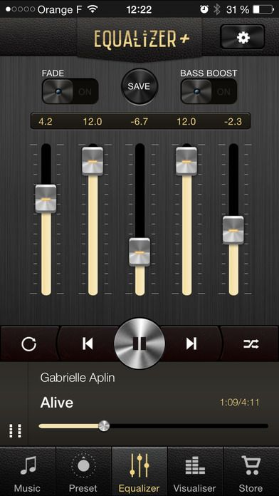 Equalizer + : free music player, bass booster and sound visualizer