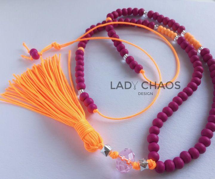 Bunte Kette mit Anhänger  von Lady_Chaos auf DaWanda.com