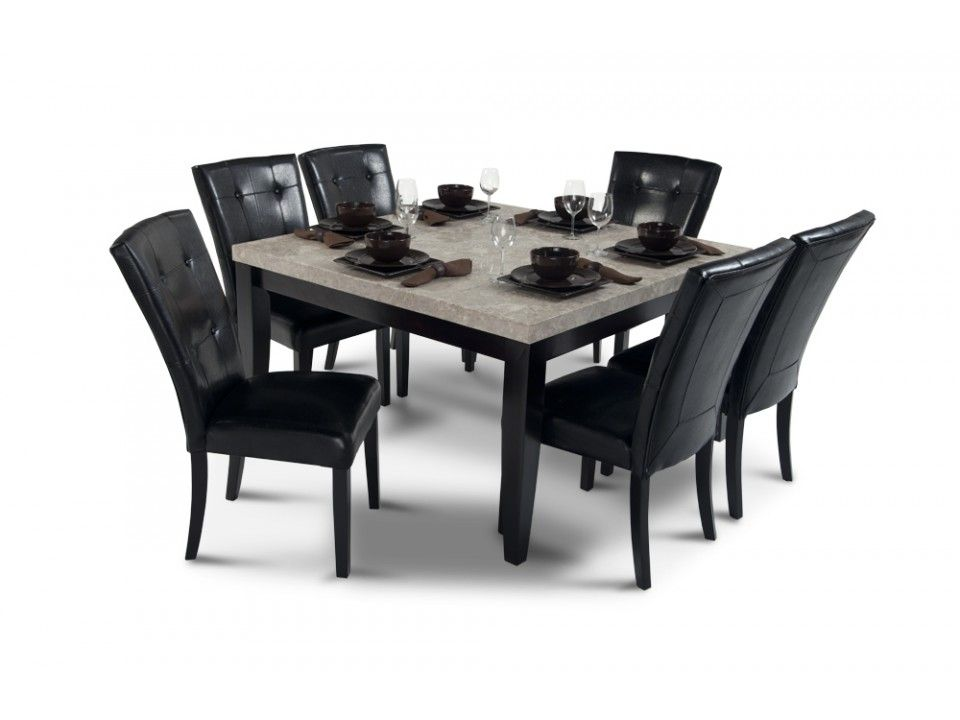 54 Square Dining Table 6 Dining Chairs Marble Dining Table