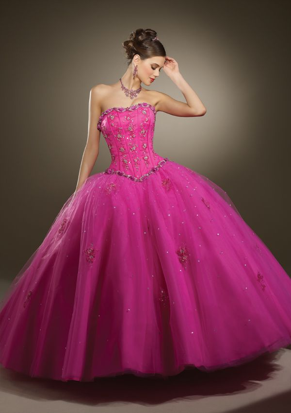 Strapless ball gown Quinceanera dress