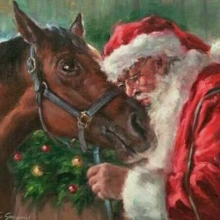 Christmas Horse Pictures.Christmas Horse Vintage Christmas Art Christmas Horses