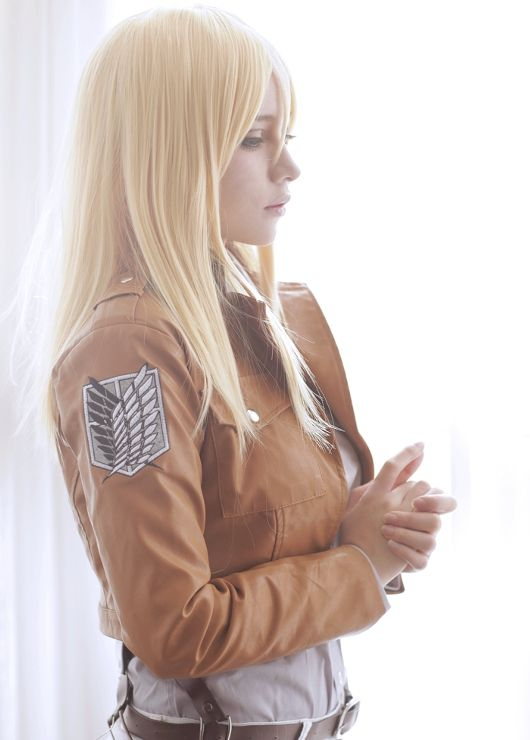 AMAZING cosplay ll Attack on Titan ll 104th Training Corps: Krista Lenz  Histroria