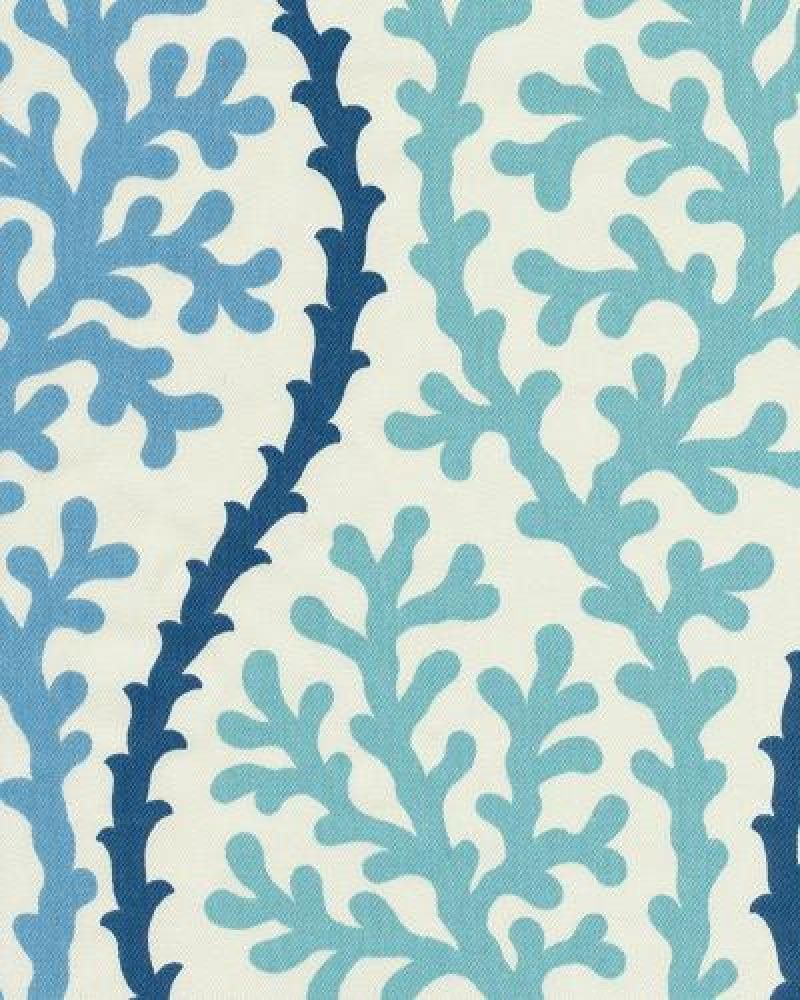 Coral Kelp Ocean Sea Shell Modern Bold Graphic Print Heavy Weight Cotton Fabric Drapery Fabric Osym923 To Cov Drapery Fabric Coral Fabric Printing On Fabric