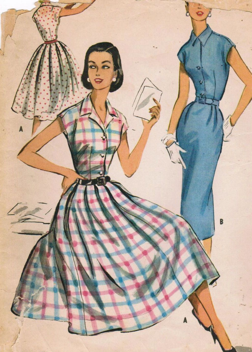 1950s McCall's 4003 Vintage Sewing Pattern Misses' Dress Size