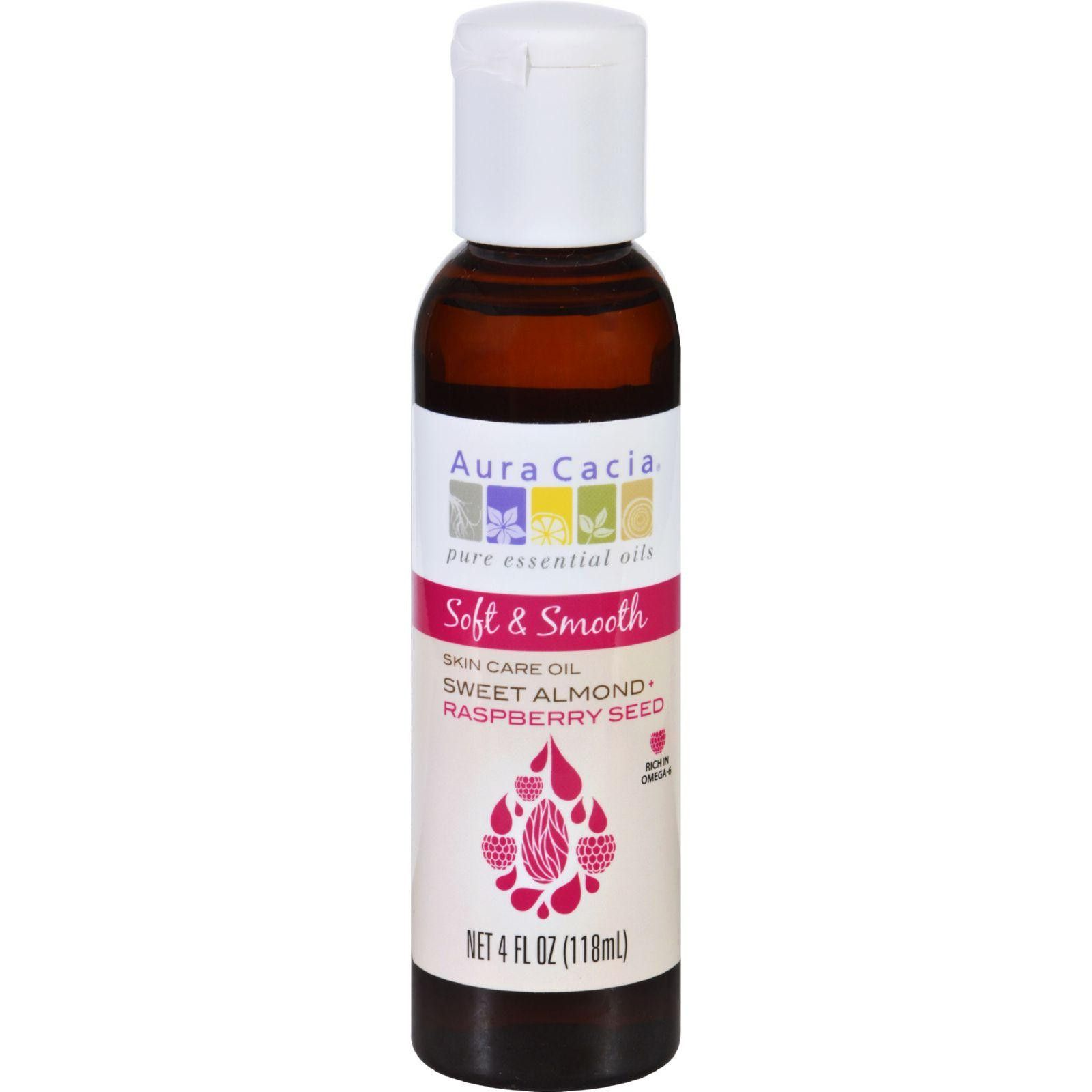 Aura Cacia Skin Care Oil Soft And Smooth Sweet Almond Plus Raspberry Seed 4 Oz Oil Skin Care Raspberry Seeds Aura Cacia