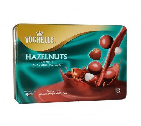 Vochelle Hazelnuts With Dairy Milk Chocolate Tin