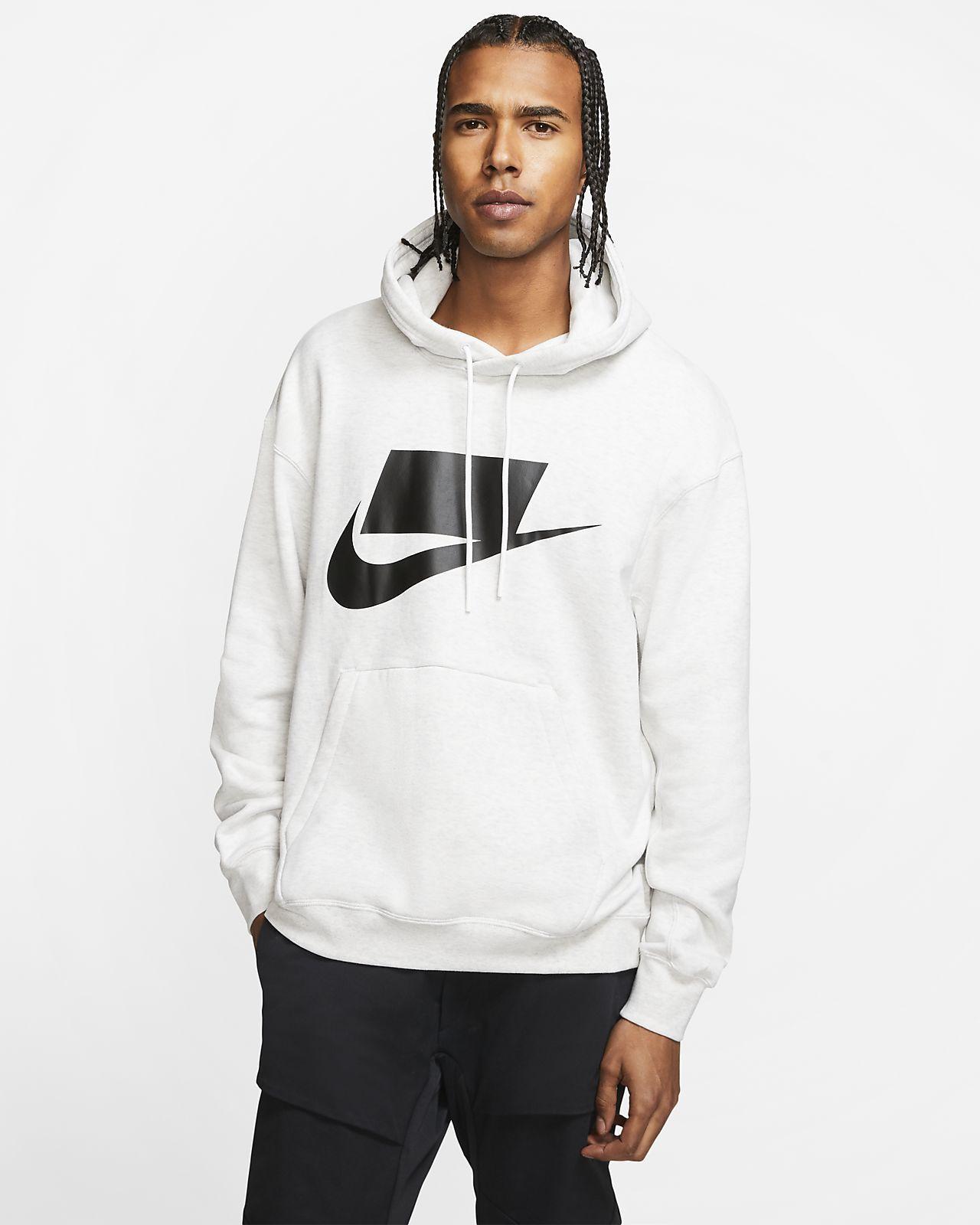 Nike Sportswear Nsw French Terry Pullover Hoodie Nike Com French Terry Pullover Nike Sportswear White Hoodie Men [ 1600 x 1280 Pixel ]