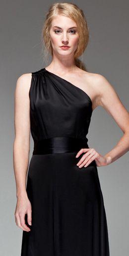 Modern Asymmetrical Neckline Bridesmaid Dress