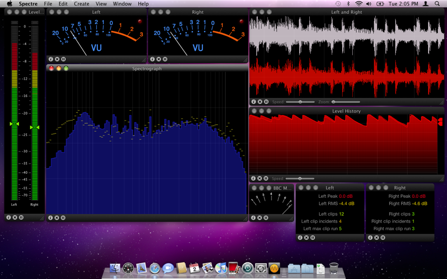 Spectre   Multi-instrument real-time audio analyzer for Mac