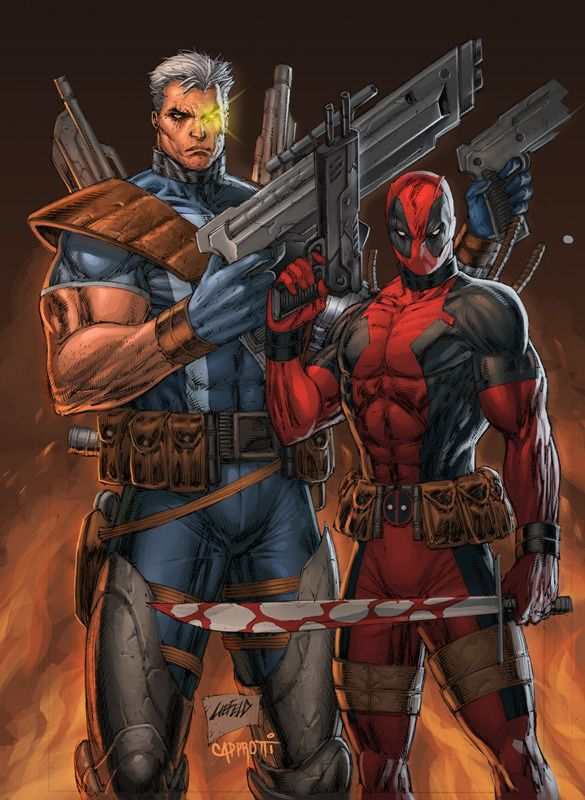 #Deadpool #Fan #Art. (Deathstroke and Deadpool) By: Rob Liefeld. (THE * 5 * STÅR * ÅWARD * OF: * AW YEAH, IT'S MAJOR ÅWESOMENESS!!!™) [THANK U 4 PINNING!!!<·><]<©>ÅÅÅ+(OB4E)