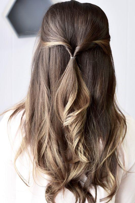 Going Half-sies: Get This Effortless Half-Up Style | Hair ...