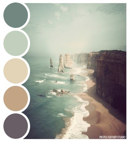 Color Inspiration - BEACH PALETTE - color palette Pastel Feather Studio - CoDesign Magazine   Daily-updated Magazine celebrating creative talent from around the world
