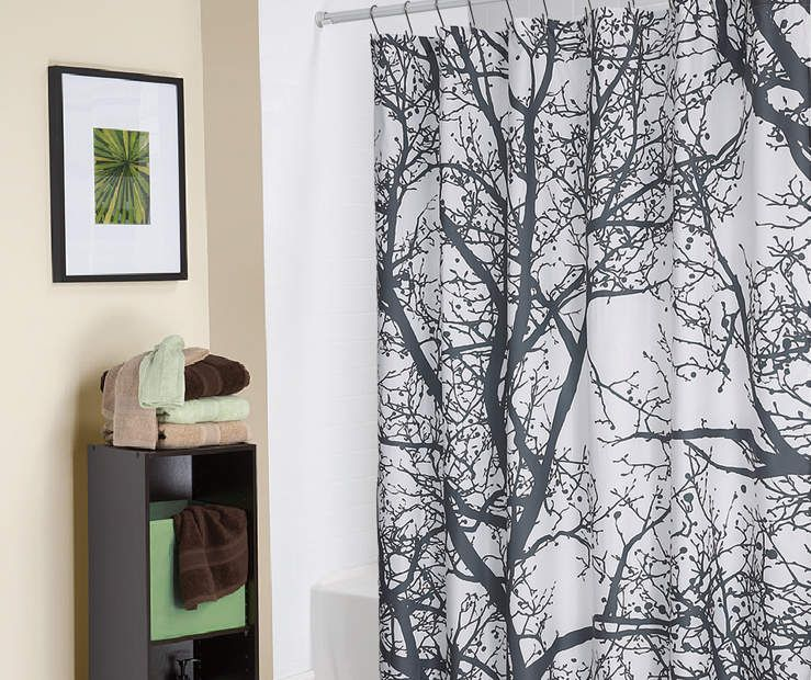 """Living Colors Trees Fabric Shower Curtain, (72"""")"""