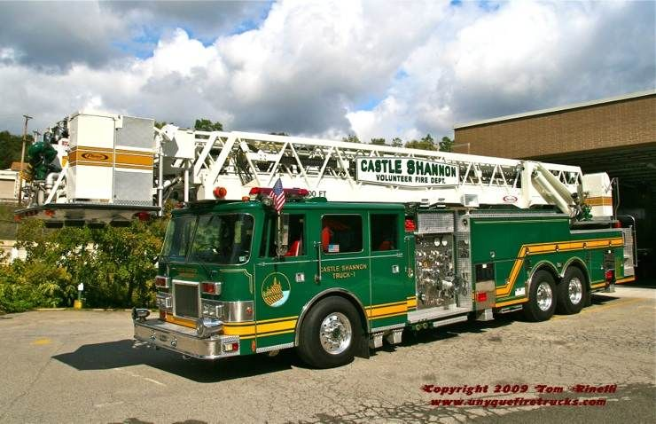 Castle Shannon Pa Fire Dept Truck 1 Green Giant 1994