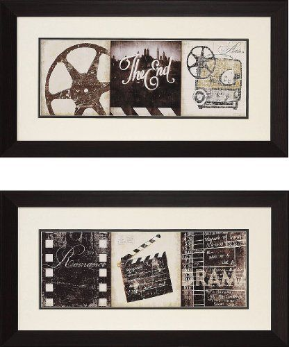 """The End"" And ""The Drama"" Theater Wall Art Pair By"