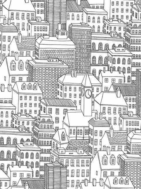 2716 23806 Black On White Limelight Wallpaper By Brewster Total Wallcovering City Wallpaper City Drawing House Drawing