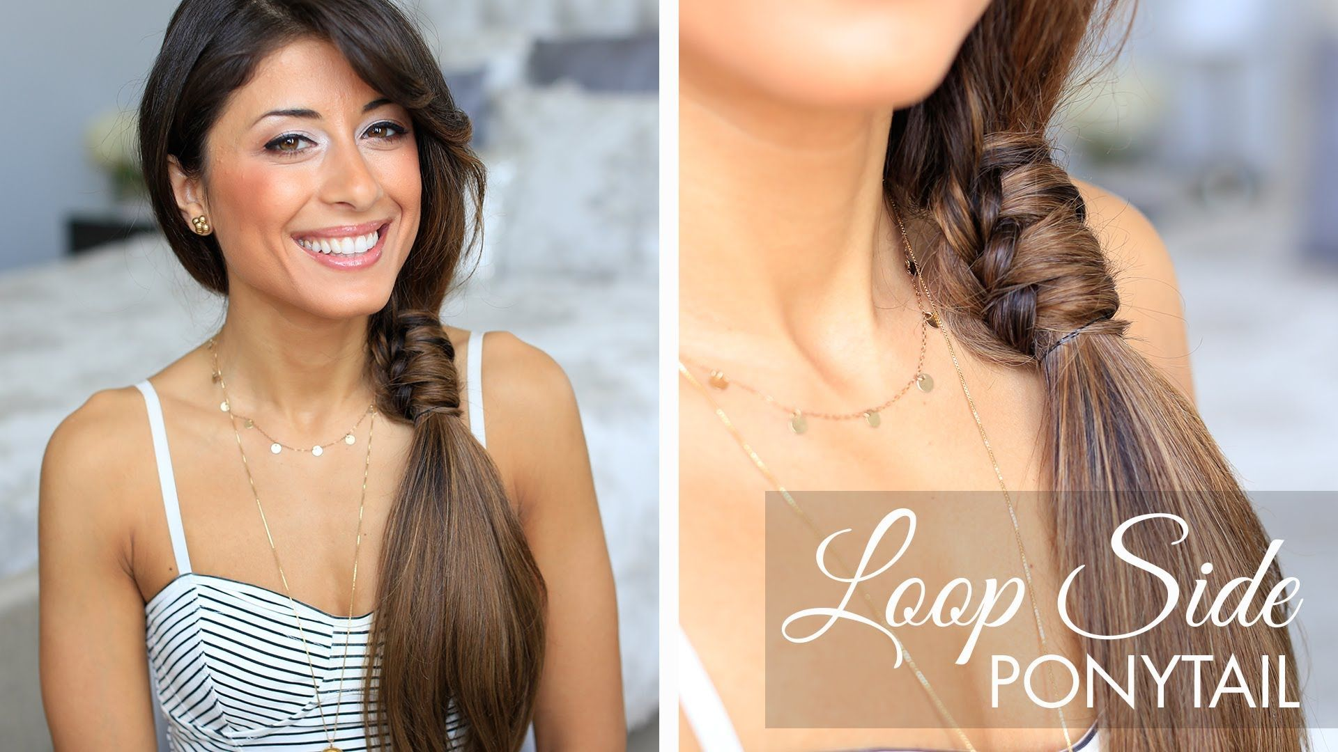 This Loop Side Ponytail Is A Super Cute Hairstyle For Everyday Im