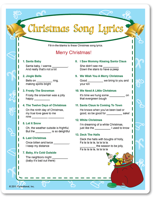 Blog name that christmas carol song games indyarocks com