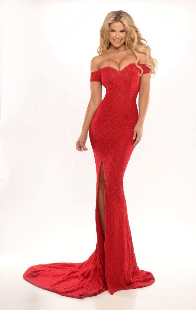 ustralian Designer KAREN Red Lace Mermaid Dress | Lace, Scarlett o ...