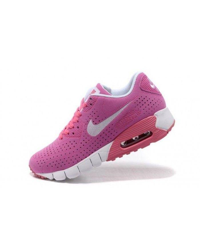 Nike Air Max 90 Current Moire Womens Pink White Trainers