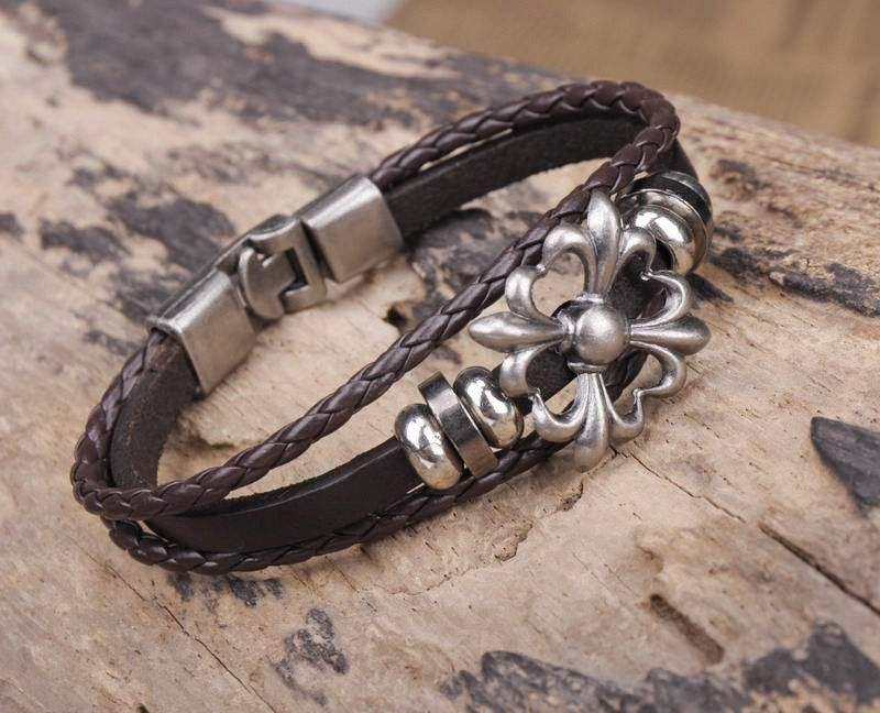 Handmade Leather Men's Wrap Bracelet