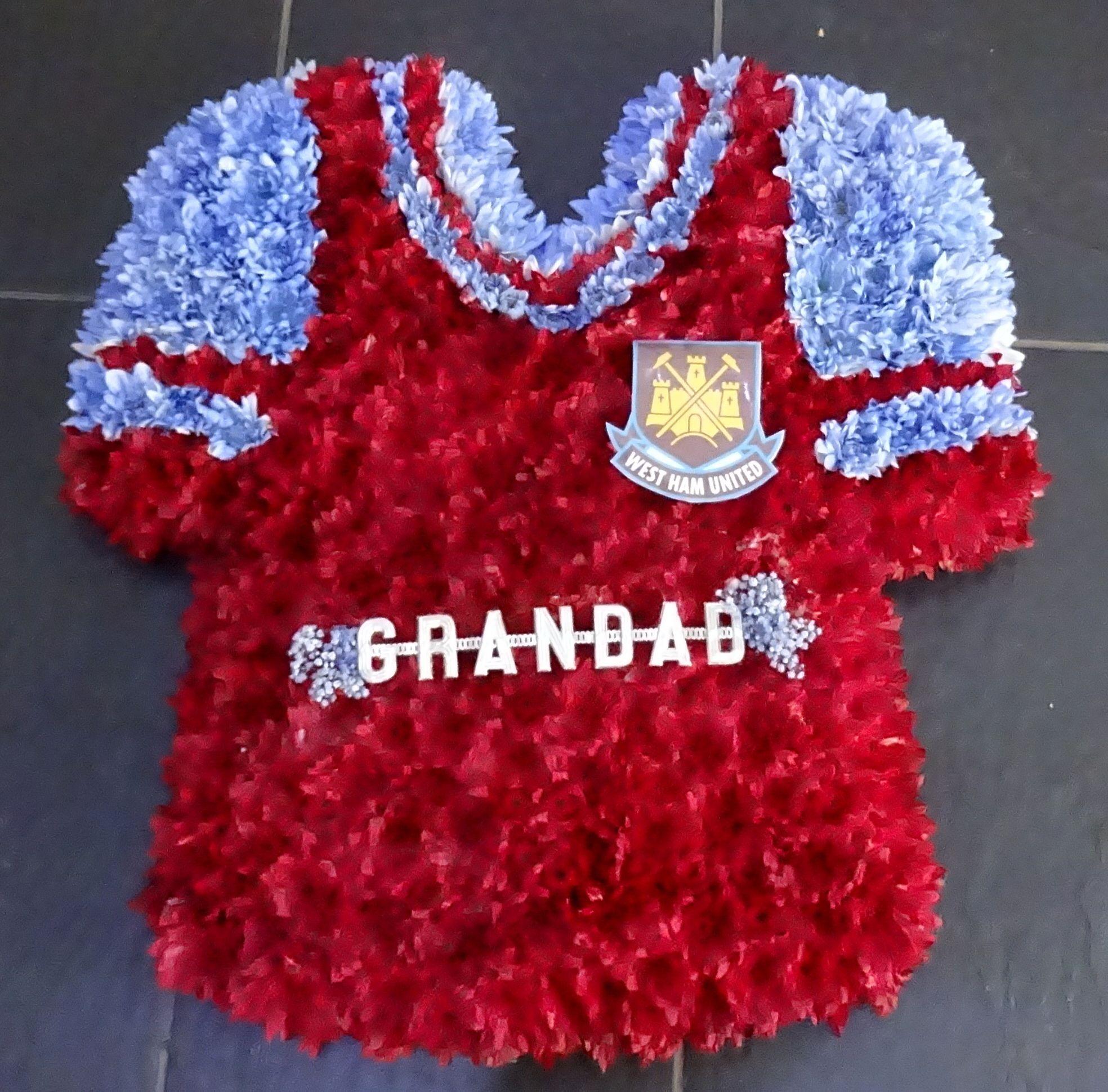 Football shirt west ham funeral flowers pinterest west ham football shirt west ham izmirmasajfo
