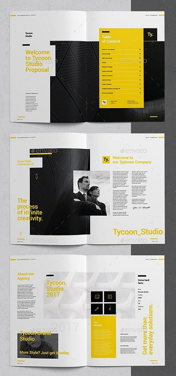 36 Pages Clean Minimal Project Proposal Template Indesign