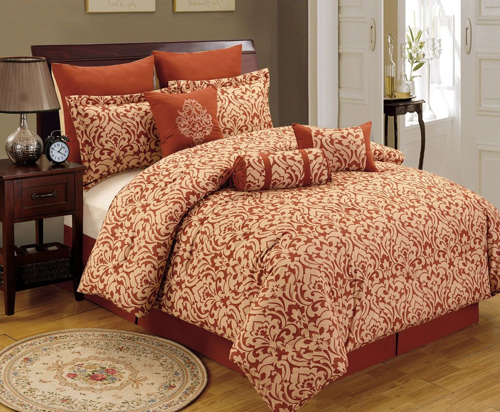 by rust set comforter waterford p cavanaugh paisley bedding sunset linens