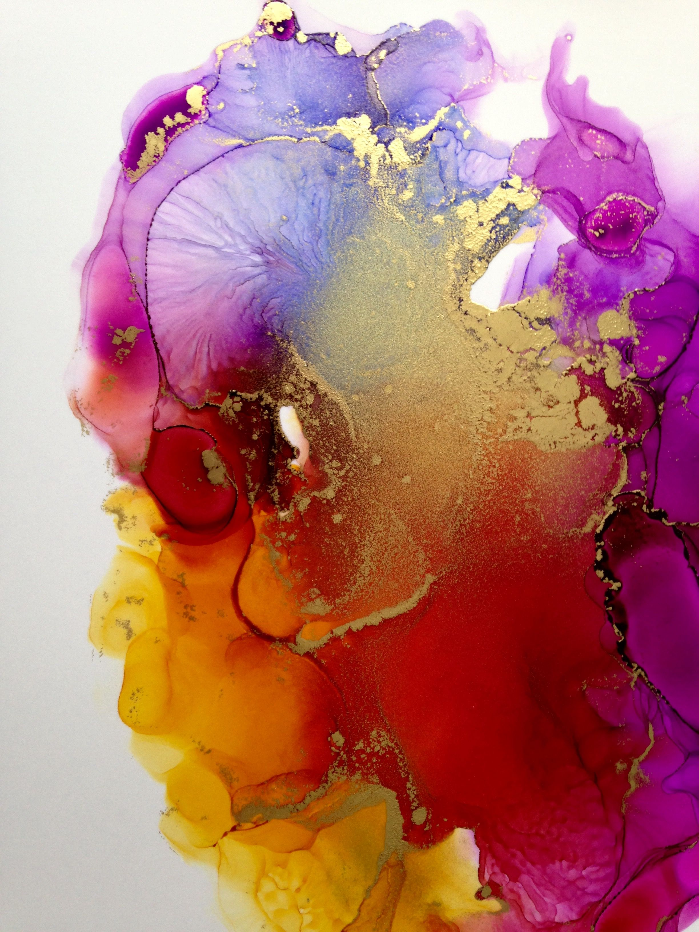 Abstract alcohol ink painting by Linda Crocco # ...