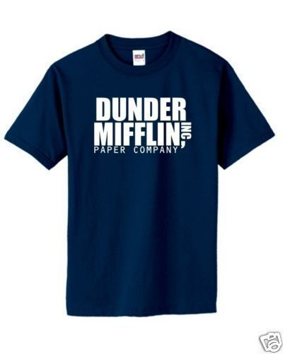 Dunder Mifflin T Shirt Classic Graphic Logo Tee The Office Dwight S 5xl The Office Tshirt Office Tees