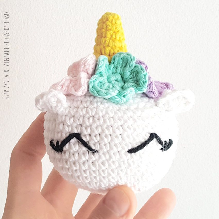 Baby Unicorn Free Amigurumi Pattern & Video Tutorial - Sueños ... | 850x850