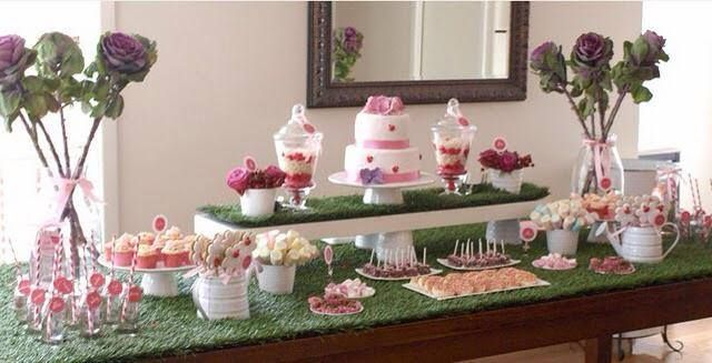 Tavolo battesimo ~ Allestimento tavolo confettata per battesimo battesimo