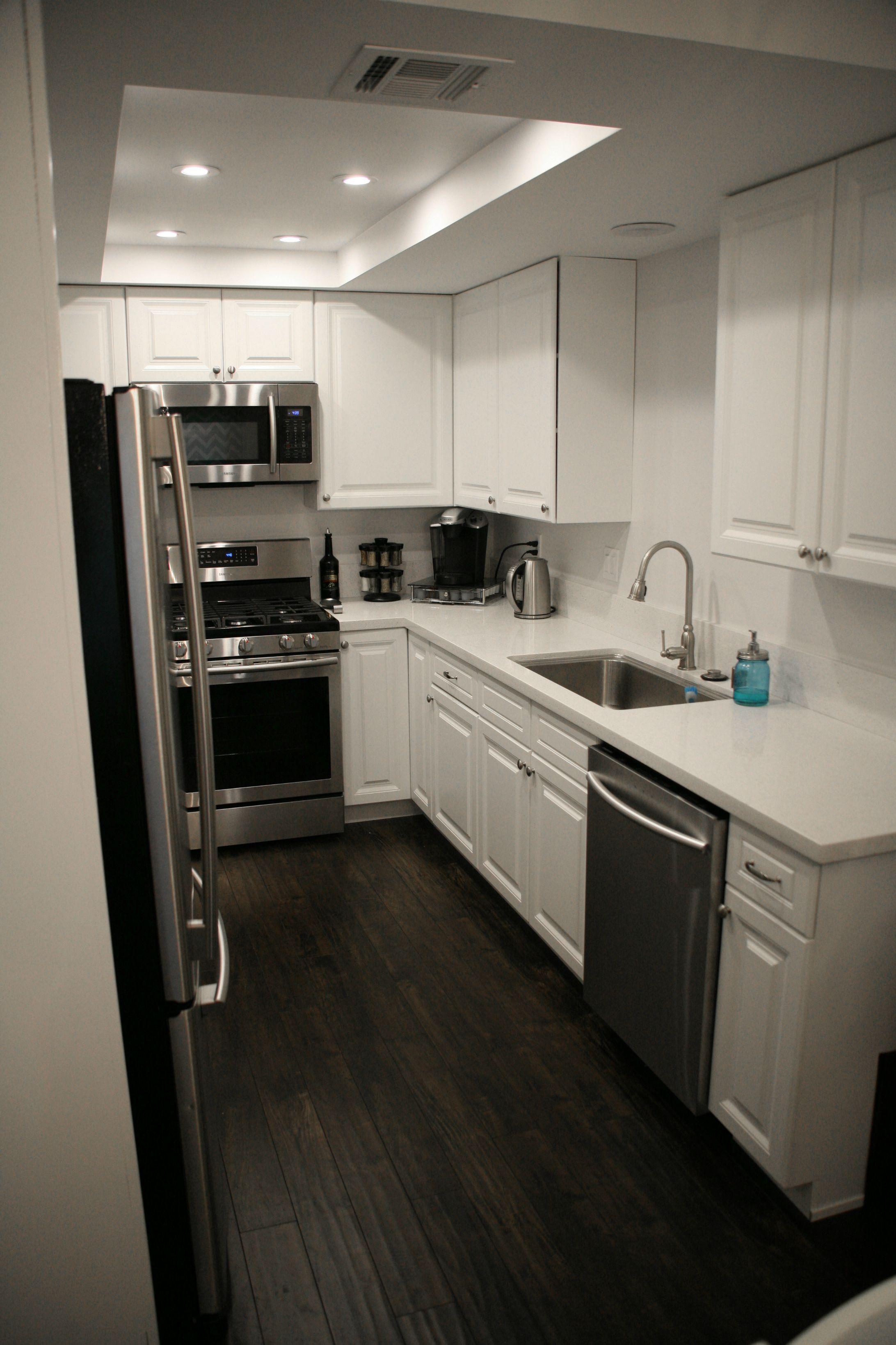 First Home Renovation Home Renovation Grey Countertops White Quartz Countertop