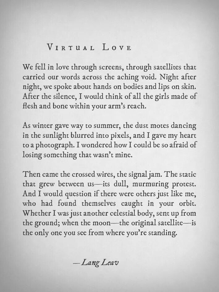 Can You Fall Inlove With Someone You Havent Met Langleav